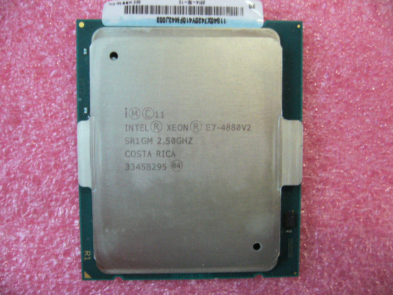 QTY 1x INTEL 15-Cores Xeon CPU E7-4880 V2 2.5GHZ/37.5MB LGA2011-1 SR1GM