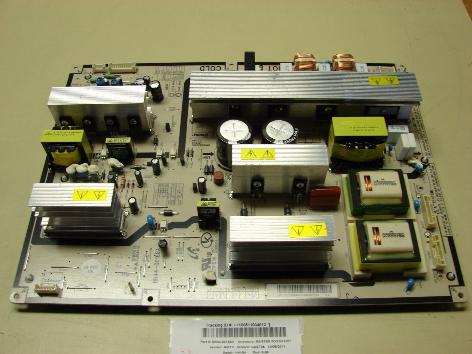 Samsung BN44-00168A Power Supply Board LNT4642HX/XAA LNT4661FX/X