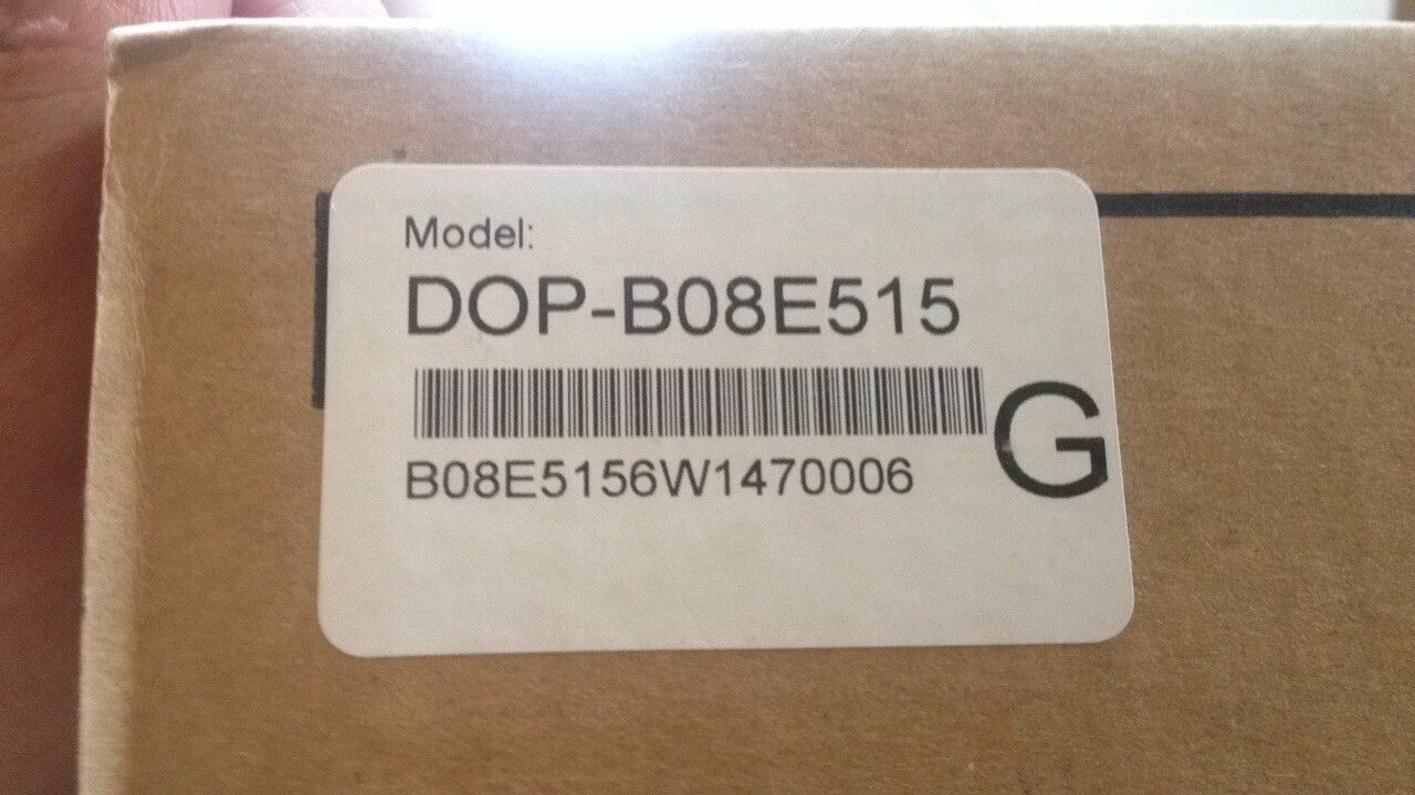 "DOP-B08E515 Delta HMI Touch Screen 8"" inch 800*600 with Ethernet new in"