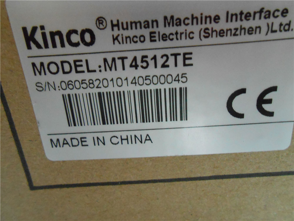 MT4512TE Kinco HMI Touch Screen 10.1inch 800*480 Ethernet with program c
