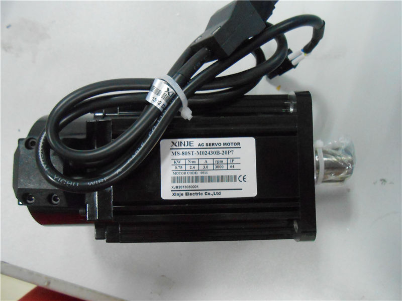 220V 0.75KW 750W 2.4N.m 3000rpm AC Servo Motor Drive kits  with 3M cable