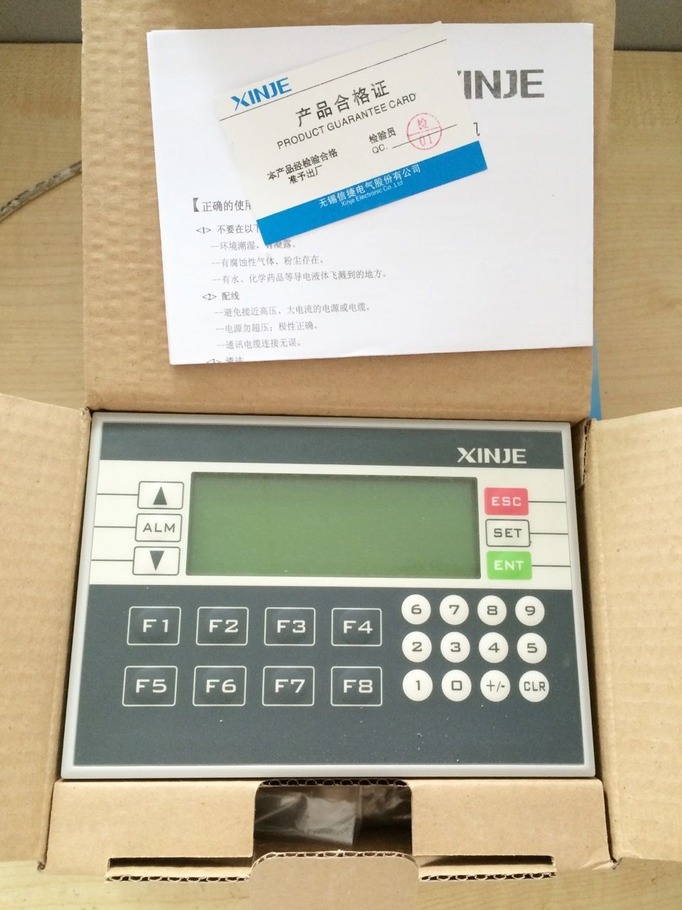 XP3-18R XINJE Integrator of PLC&HMI OP330 operate panel XC3 10DI/8DO