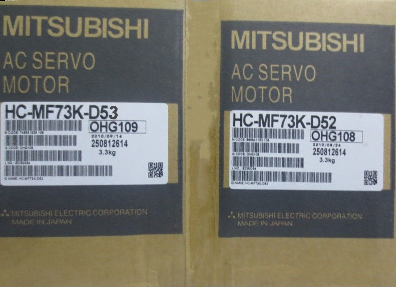 100% NEW Mitsubishi Servo Motor HC-MF73K-D52 HC-MF73K-D53 IN BOX