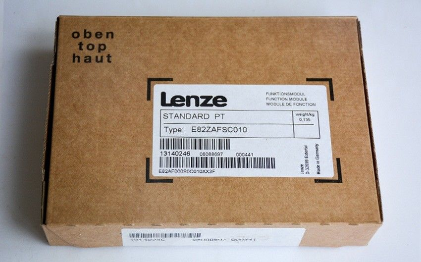 Genuine LENZE STANDART I/O FUNCTION MODULE E82ZAFSC010 in new box