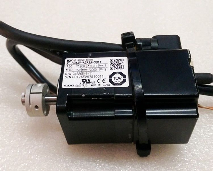 Yaskawa USED 100% TESTED AC SERVO MOTOR SGMJV-A5A3A-SU11 in stock